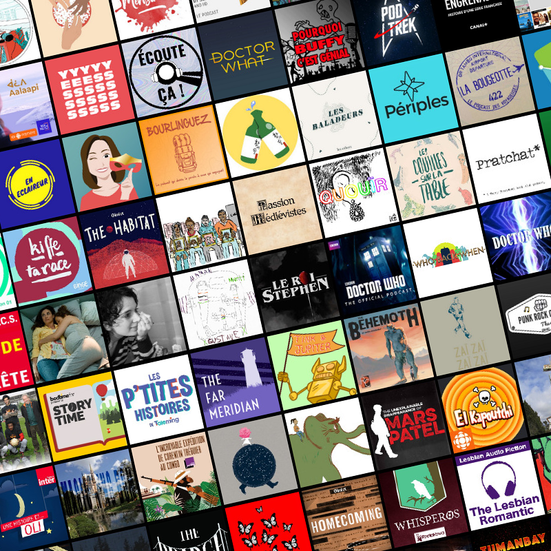 Some of the podcasts I listened to for the library